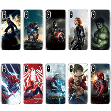 The Avengers Soft TPU Silicone Cover For iPhone 5 5S SE 6 6S 8 Plus X XS XR XS Max Coque Dr. singular iron Man For iPhone 7 Case(China)