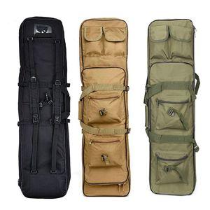 Image 5 - Outdoor Militaire Jacht Schieten Tas Nylon 81 Cm Tactische Zak Vierkante Carry Gun Bag Hand Gun Accessoire Bescherming Case Rugzak