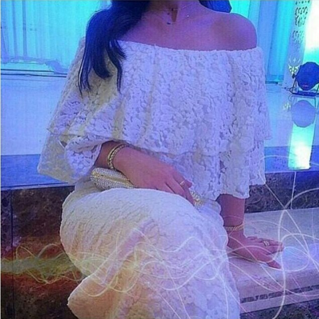 Free Shipping Glamorous Off The Shoulder Lace Three Quarters Sleeve Slit Tea Length Short Summer Mother Of The Bride Dresses