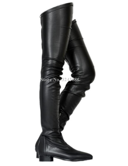 Women Fashion Flat Long Boots Sexy