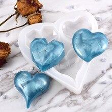Moule en résine de Silicone en forme de cœur pour la fabrication de bijoux, époxy UV, outils de bijouterie, moules en Silicone pour bricolage, pendentifs porte-clés