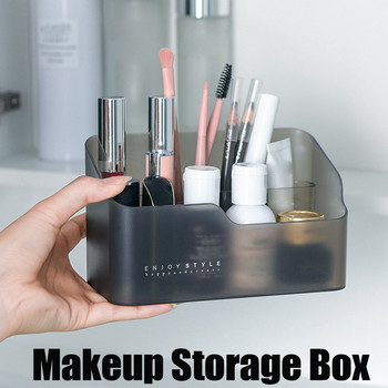 Plastic Makeup Bathroom Storage Box Cosmetic Organizer Desktop Make Up Jewelry Storage Case Sundries Table Container Organizer