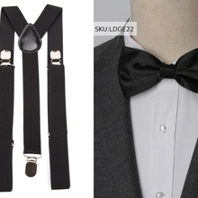 Tirantes corbata de lazo conjunto de moda vintage para hombres para mujeres Bowtie bracks pantalones Tirantes de la boda camisa de ocio Accesorios