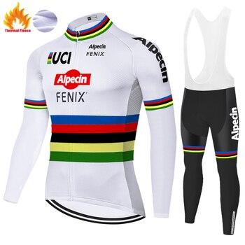 Alpecin-Camiseta de ciclismo fenix para hombre, malliot térmico de lana con gel...