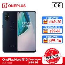 OnePlus Nord N10 5G OnePlus Official Store Versión Global 6GB 128GB Snapdragon 690 Smartphone 6,49 90Hz FHD + 64MP Quad cámaras Warp CARGO DE 30T NFC; code: DESMADRE28(€199-28);DESMADRE14(€99-14);DESMADRE6(€29-6);