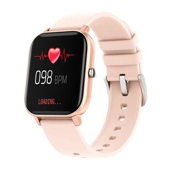 RUNDOING P8 1.4 inch Smart Watch Men Full Touch Fitness Tracker Blood Pressure Smart Clock Women GTS Smartwatch 8