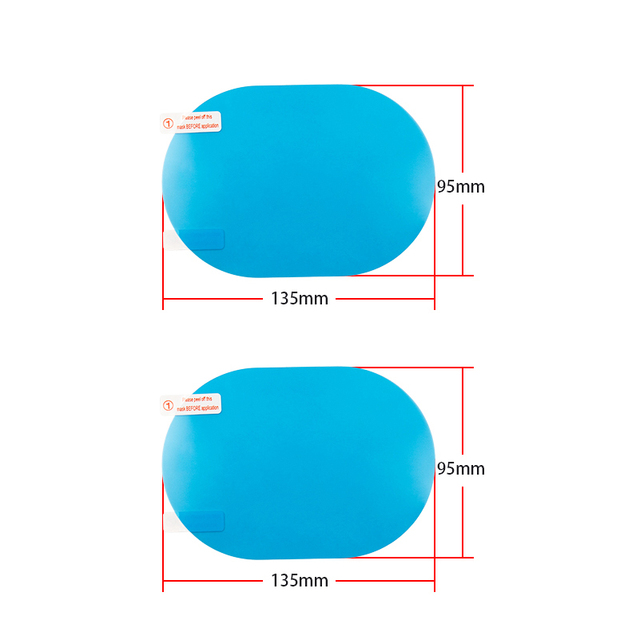 High Quality Car Rearview Mirror Protective Film Anti Fog Clear Rainproof Rear View Mirror Protective Soft Film Auto Accessories 3