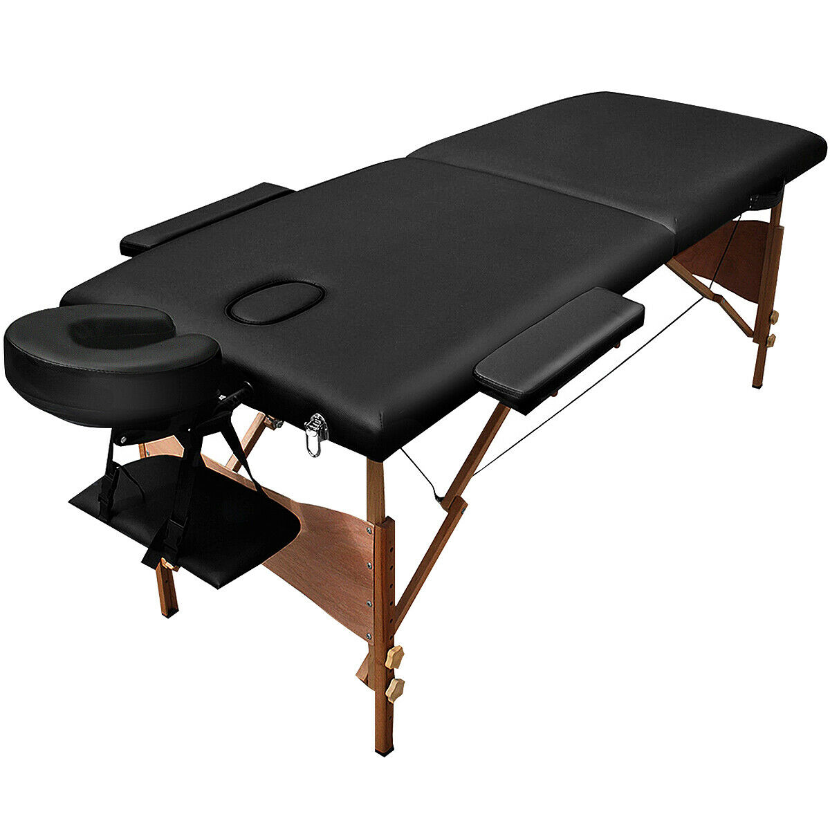 """Costway 84""""l Portable Massage Table Facial SPA Bed Tattoo W/free Carry Case (Black)"""