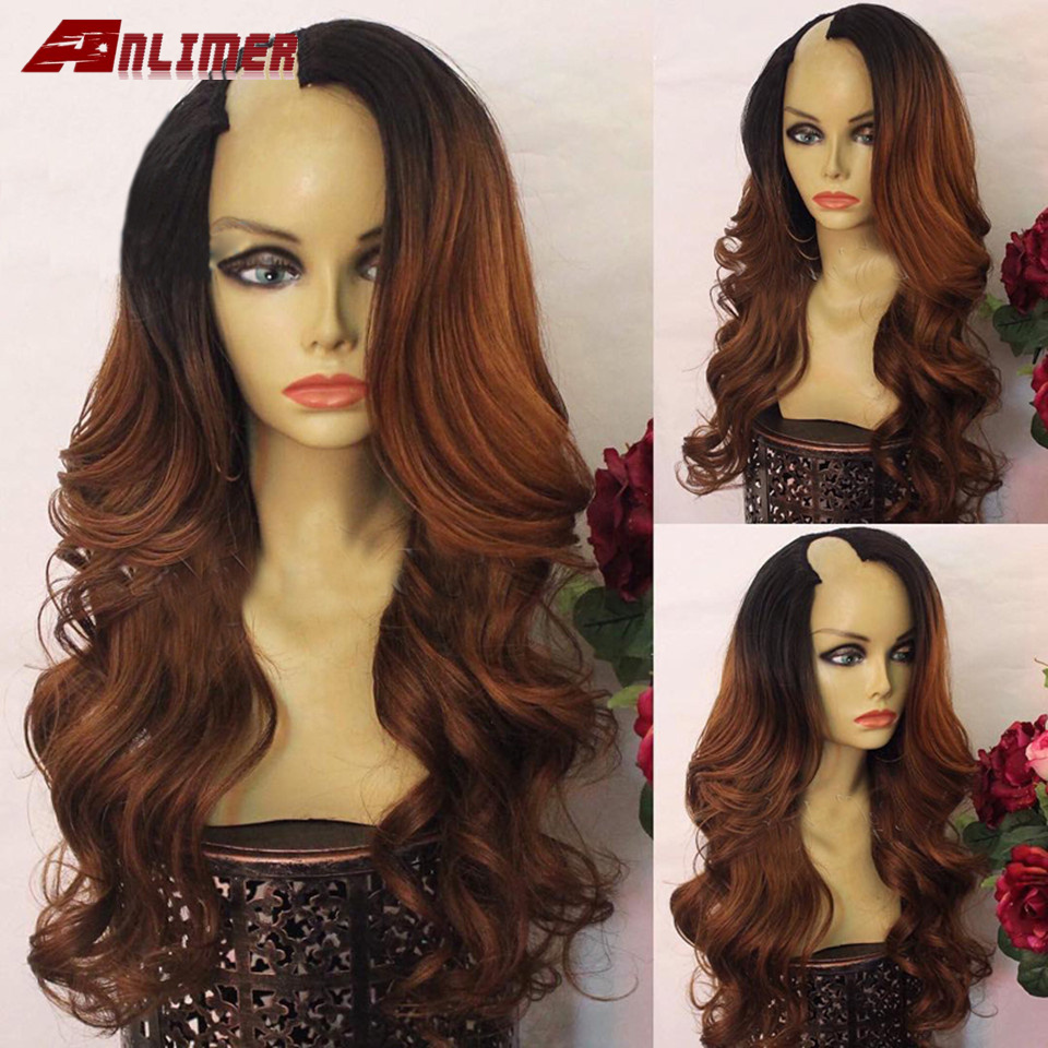 Ombre Brown T#1b/30 U Part Human Hair Wigs Body Wave Brazilian Remy Hair Right Side Part 2*4