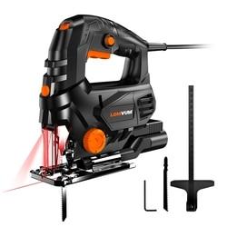 LOMVUM 800W laserowa wyrzynarka elektryczna 5 Variale Speed Jia piła do obróbki drewna elektryczna piła 110V/220V cięcie metalu drewno aluminium w Piły elektryczne od Narzędzia na