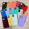 Offizielle Original Flüssigkeit silikon Fall Für iPhone 12 pro XS max SE 2020 XR X 7 8 Plus fällen für iPhone 6 6S 12 11 Pro Mit Box