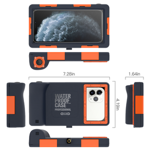Image 4 - Professional Diving Case For iPhone 11 Pro Max X XR XS Max Case 15 Meters Waterproof Depth Cover For iPhone 6 6S 7 8 Plus Coque