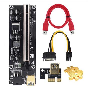 1pc PCI-E X1 do PCIE X16 płytka przyłączeniowa przedłużacz karta graficzna interfejs 6P wzmocnienie zasilania przedłużacz USB 3 0 tanie i dobre opinie Eshowee CN (pochodzenie) Przewody PCI-Express NONE Dostępny w magazynie Extender Line