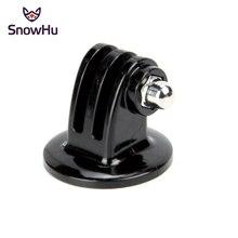 цена на SnowHu For Gopro Tripod Mount Monopod Adapter Accessories For Go pro Hero 8 7 6 5 4 3+ SJ4000 For xiaomi yi For EKEN Accessories
