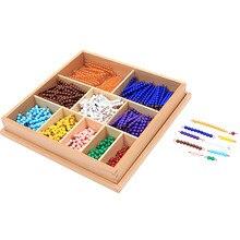 Koralik Decanomial do tabliczek mnożenia materiały Montessori zabawki matematyczne dla dzieci przedszkole wczesne zabawki edukacyjne