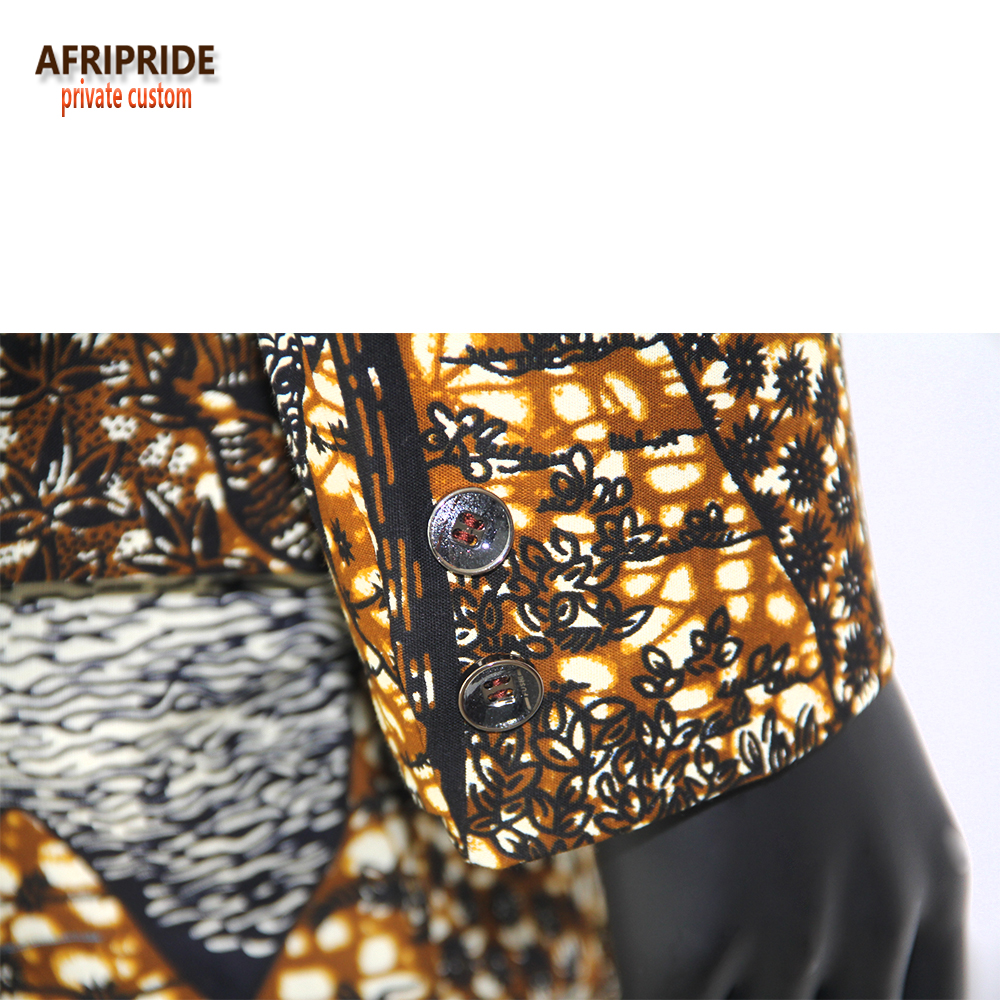Купить с кэшбэком 2019 african men clothing print coats jackets+dashiki vest tops+pants set mens suits ankara 3 piece pockets AFRIPRIDE A731608