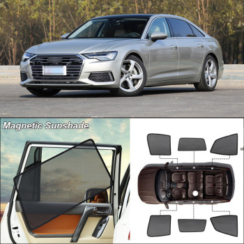 Car Side Windows Magnetic Sun Shade UV Protection Ray Blocking Mesh Visor For Audi A6l 2013-2019