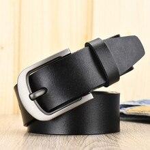 Men's belt leather belt men pin buckle cow genuine leather belts for men 125 cm high quality mens belt cinturones hombre