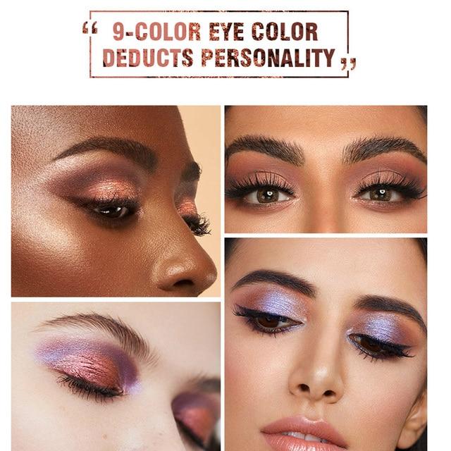 Korea Cosmetic Matte Eye Shadow 9 Colors Make Up Set Nudes Pallete Eyeshadow Palette Wholesale Fashionable Shimmer Eyeshadow 1