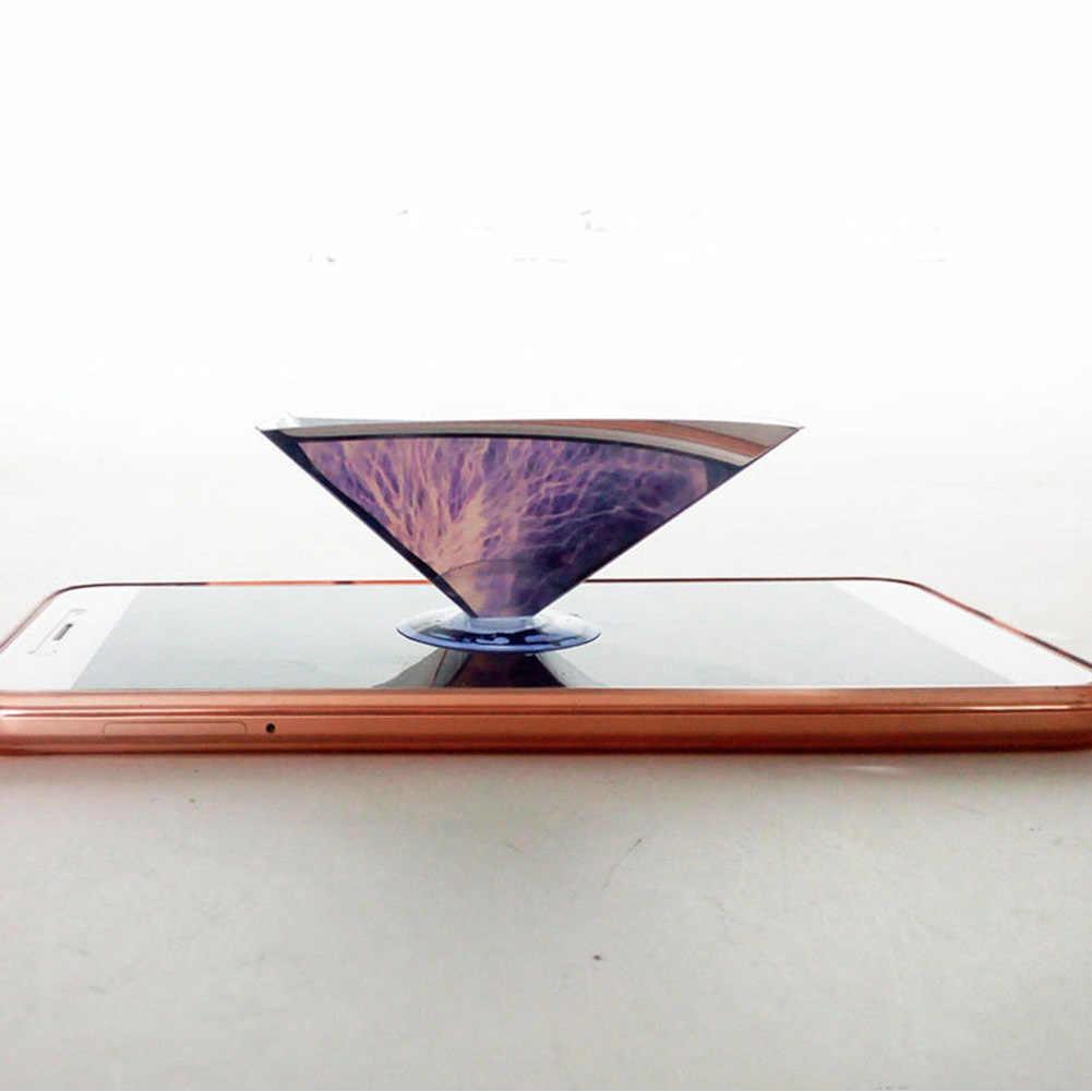 العارض مسطحة للطي 3D عرض الفيديو الهولوغرام مصغرة العالمي ل هاتف ذكي