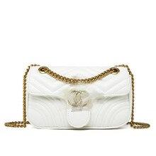 Handbag Tote-Bag Messenger-Bags Quality Women's Luxury Brand Chain Shoulder Fashion New 2017 luxury shaggy deer brand golden chain pvc suede tote high quality shoulder stella handbag