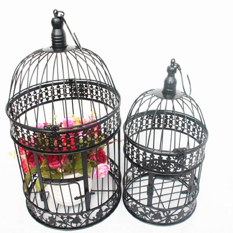 Железная птичья клетка железная птичья клетка свадебный Декор Цветочный декор для клетки реквизит птичья клетка подвесная Цветочная рамка птичий декор для клетки птичья клетка|Птичьи клетки и гнезда| | - AliExpress