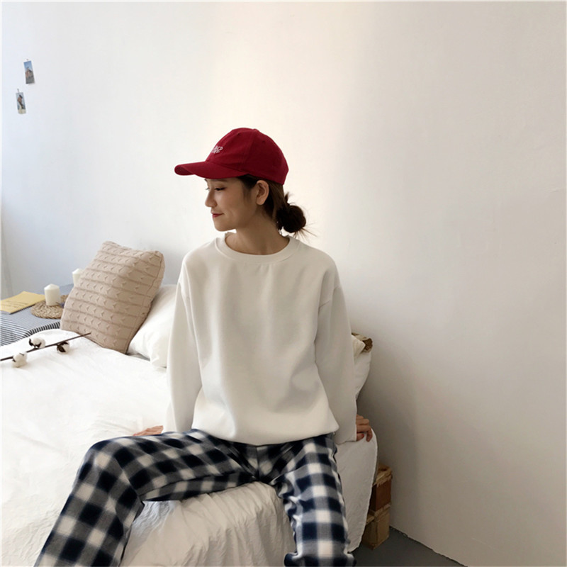 H23709c60b9a74ace827052a853ef08efx - Autumn winter Harajuku Solid Sweatshirt Women Long Sleeve Hoodie Loose Women Hoodies Sweatshirts Casual Tracksuit