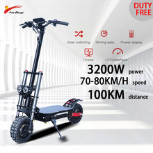 Folding Electric Scooter 3200W 60V Foldable Electric Skateboard for Adult 11inch Offroad Tire Escooter Patinete Electrico Adulto