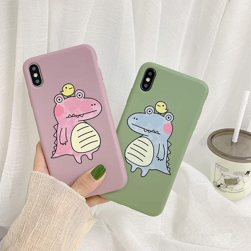 Cartoon Crocodile Thin Ultra Silicone Case for iPhone Xs MAX XR 6.1 8 7 Plus Soft TPU Rubber Gel Bumper Back Cover
