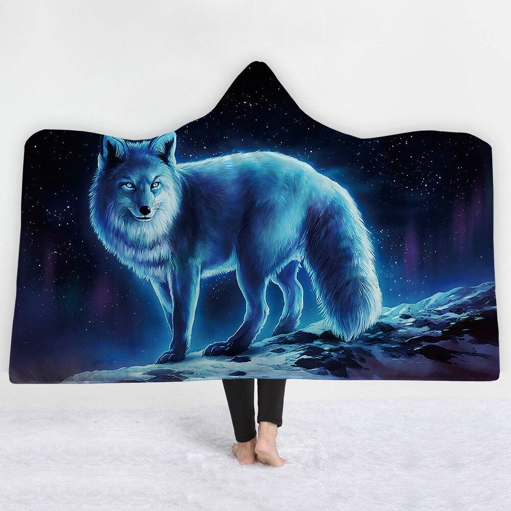 Patlayıcı kapşonlu battaniye jia ju tan battaniye kalın battaniye shuang ceng tan fantezi Beast serisi title=