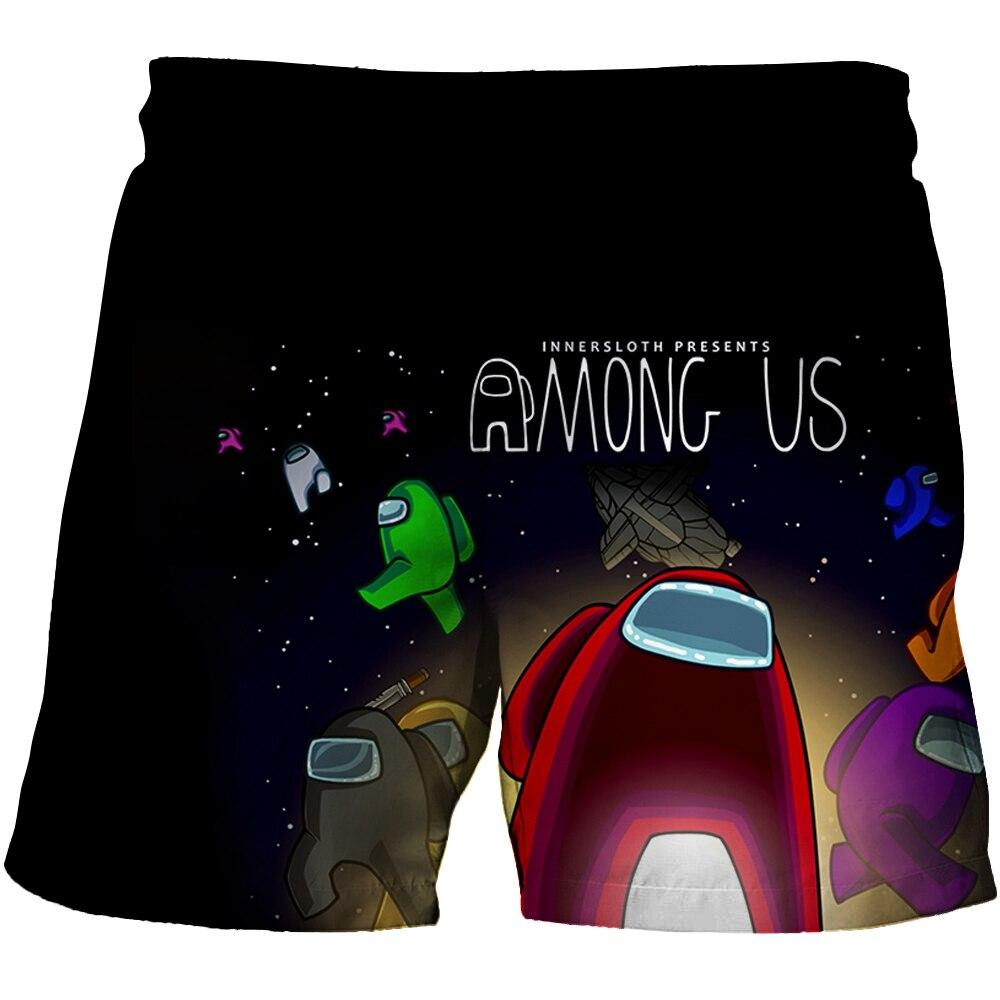 Летняя Детская видео игры у нас Impostor печатных шорты детские 3D с рисованным аниме футболка Impostor Одежда для мальчиков От 4 до 14 лет, детские шор...