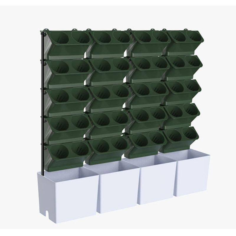 Stackable עציץ קיר תלוי אנכי המטע עסיסי צמחי בונסאי אגרטל גן עיצוב הבית