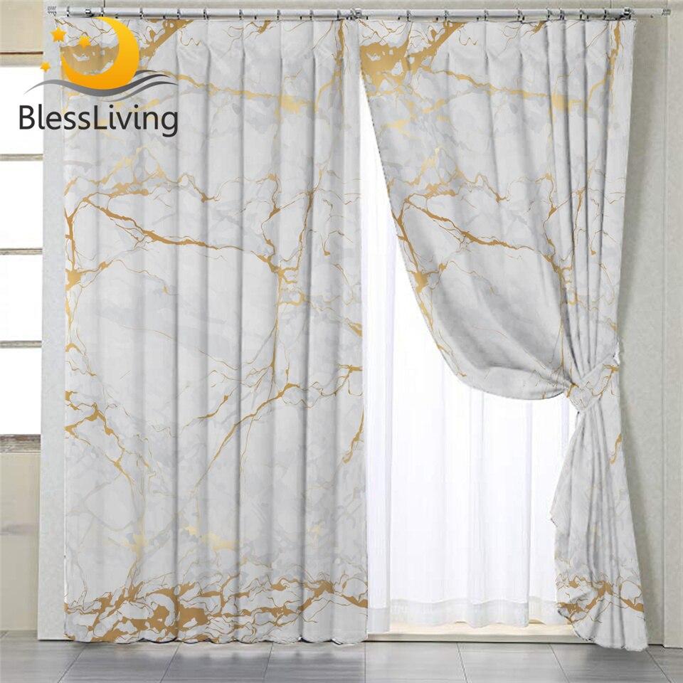 blesliving rideaux occultants vintage en marbre blanc dore pour salon panneaux de fenetre de luxe en pierre pour chambre a coucher