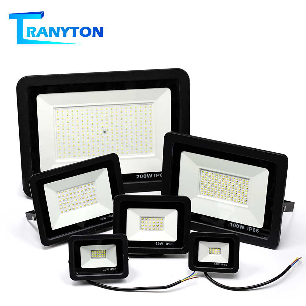 LED Spotlight 220V 10W 20W 30W 50W 100W Ultral Thin Outdoor Floodlight  IP66 Waterproof  For Garden Yard Street