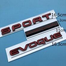 Car Styling Trunk Sticker  SPORT EVOQUE Letters Emblem Bar Logo for Land Range Rover SV Autobiography ULTIMATE Edition Badge
