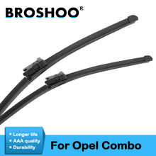цена на BROSHOO Auto Wiper Blades Natural Rubber For Opel Combo C/Combo D,Model Year From 2001 To 2016 Fit Standard Hook/Push Button Arm