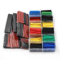 127 uds/328 Uds Kit de tubo de Cable eléctrico del coche manguito de Tubo termorretráctil surtido de 8 tamaños de colores mezclados