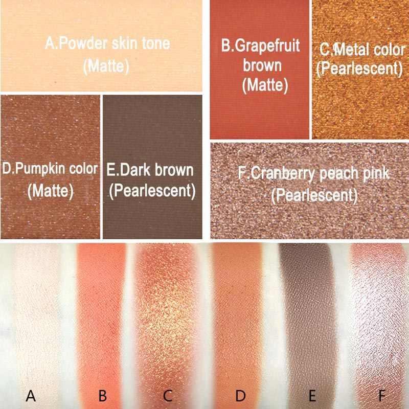 Горячая продажа 6 цветов Палитра теней для век долговечный матовый Тени для век Палитра теней для век лоток набор идеально подходит для ежедневного макияжа