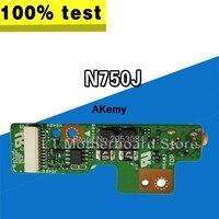 Original For ASUS N750J N750JK N750JN N750JV N750JA Power Button Board Switch Button Switch Small Board LED Board