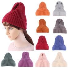 цена на New Fashion Unisex Winter Hats For Women Men Skullies Beanies Chic Knitting Slouchy Baggy  Soft  Warm Hat Cap