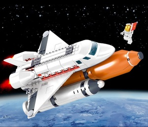 Image 2 - Ewellsold צעצועי תחנת החלל שבתאי V רקטות אבני בניין לילדים עיר הסעות לווין אסטרונאוט איור לבנים