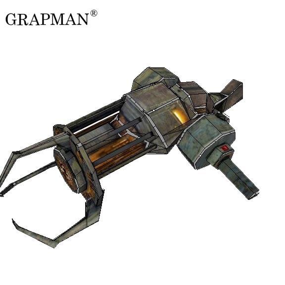 Paper Model HD Drawings Half-Life 2 Science Fiction Pistol