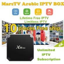 DHL Free Shipping 10 pcs Vshare Android Arabic IPTV BOX Free Forever Arabic