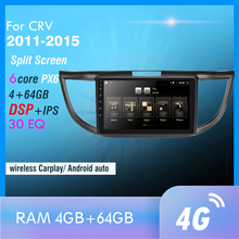 px6 Android 10 Car Radio for CRV 2011 2012 2013 2014 2015 Multimedia Video Player Navigation GPS Android 4G WIFI Autoradio