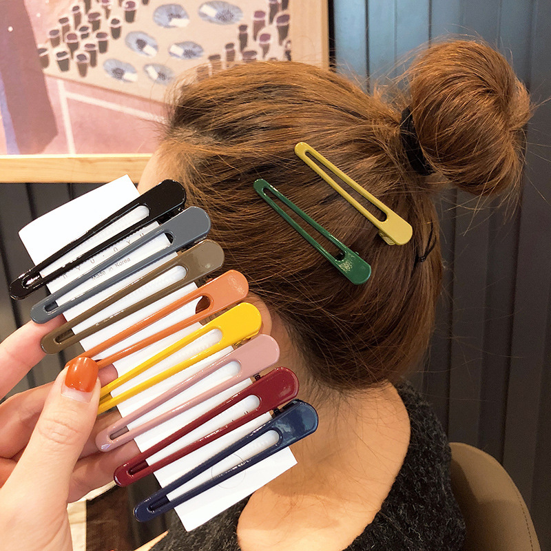 Colored Simple Duckbill Clip Styling Hair Tools Women Girls Hair Clips Pin Barrettes Accessories Hairclip Hairgrip Headdress New