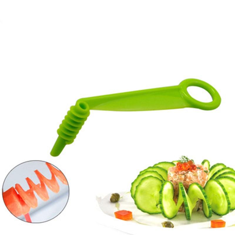 1/2 шт. спиральная овощерезка овощи винтовой стержень для нарезки резак Кухня инструменты картофельный нож для резки моркови, огурца, ручные ...