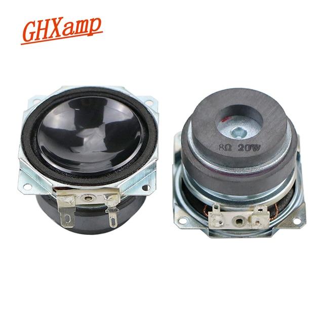 2 Inch 20W Full Range Subwoofer Speaker 8ohm PP Basin Reflexed Cloth Edge Double Magnetic Long Stroke Desktop DIY 1Pairs