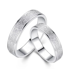 Wedding Ring Stainless Steel Jewelry Woman Accesories Personality Couple Romantic Simple Scrub Tail Rings For Man