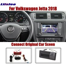Liislee Rear Camera For Volkswagen Jetta 2018~2020 Original Car Screen Upgrade Reverse Dynamic Trajectory Image Trunk Handle