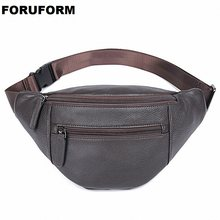 Men Genuine Leather Waist Chest Bags Pouch Single Shoulder Cross Body Bags Good Natural Skin Hip Bum Fanny Belt Pack LI-1692(China)